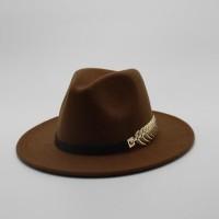 Topi Fendora Impor Khusus Merasa Topi Pria Trilby Fedora Topi dengan S 569e69d996