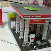 Papercraft Bangunan SPBU Pertamina Tipe 1
