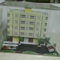 Papercraft Bangunan Rumah Susun 1 Tower 4 Lantai