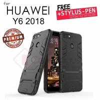 Huawei Y6 2018 - 2in1 Robot Hybrid Armor Hard Soft Case