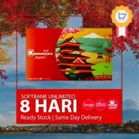 7 Days UNLIMITED simcard Jepang Softbank, Japan Sim card 7 Days