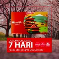 Unlimited Docomo Sim Card Japan 7 Day, Simcard Jepang Unlimited 7 hari
