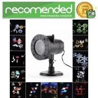 Lampu Sorot LED Outdoor Change Card RGB 12 Pattern - Hitam