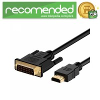 Kabel Video Adapter HDMI to DVI 24 1 Pin 1080P 1.8M - BL-DH - 180 CM