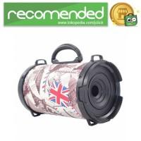 Barrel Wireless Bluetooth Speaker FM Radio - D-B28 - Merah