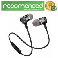 Earphone Bluetooth Sport Magnet dengan Mic - LY11 - Hitam