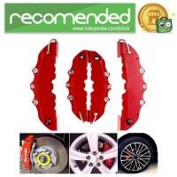 Brembo Cover Caliver Pelindung Rem Cakram Mobil - AA00085 - Merah - L