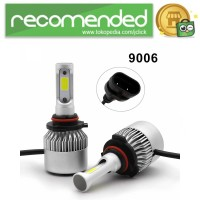 Lampu Mobil LED COB Headlight 8000LM 2PCS - S2 - 9006/HB4