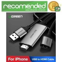 UGREEN Kabel USB to HDMI AV Adapter 1 Meter - CM151 - Hitam