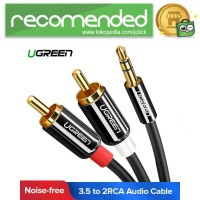 UGREEN Kabel Audio HiFi 3.5mm to RCA 1.5 Meter - AV116 - Hitam