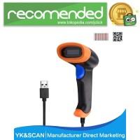 TaffWare USB Barcode Scanner 2D QR 1D - MK30 - Hitam
