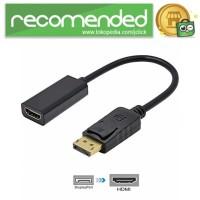 Adapter Converter DisplayPort to HDMI - DP1IN4 - Hitam