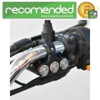Saklar Switch Tombol Lampu Motor 22mm Mount - F2243 - Hitam