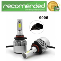 Lampu Mobil LED COB Headlight 8000LM 2PCS - S2 - 9005/HB3/H10