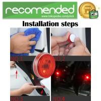 Lampu LED Pintu Mobil Warning Light 3LED 2PCS - TXVSO8 - Merah