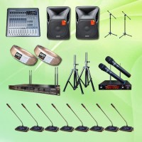 Harga mic meja rapat wireless auderpro k6 pakai 8 mic sound | Pembandingharga.com
