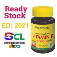 Nature's Plus Vitamin D3 1000iU / Vitamin D 3 1000 iU isi 180 softgels