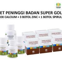 Peninggi Badan SUPER GOLD TIENS Kalsium NCP + Zinc + Spirulina ORI
