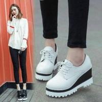 Sepatu Sandal Wanita Cewek Casual SEPATU BOOT DOCMAR PUTIH Murah