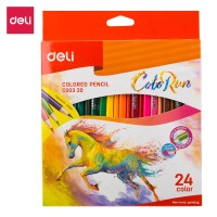 DELI - EC00320 / Pensil Warna Anak Isi 24 PCS / Peralatan Sekolah
