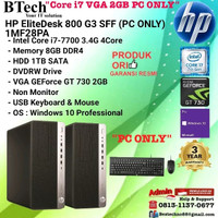 HP EliteDesk 800 G3 SFF - 1MF28PA Core i7-7700/8GB/1TB/W10/3YR PC ONLY