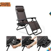KURSI SANTAI - LEISURE/LAZY CHAIR - KURSI MALAS - 73100 - BLACK - BONU