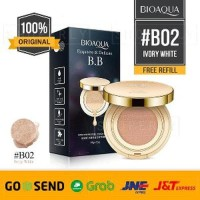 Promo BIOAQUA BB Cushion Gold Refill Original Ivory White 02