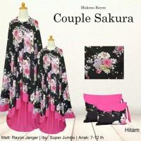 Mukena Wanita Dewasa Couple Ibu Anak Sakura Jepang Mukenah Muslim