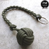 Monkey Fist Self Defense Lanyard Paracord 30 cm with steel ball inside