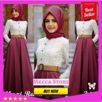 Baju Atasan Gamis Wanita Muslim Syari - MAXI RANA Murah - dress hija 8436b62aff