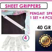 SHEET GRIPPERS / PENGAIT SPREI ( Isi 4 Pcs )