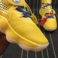 "(SE) TREND Sepatu Basket Nike Hyperdunk Off White ""Yellow Golden"""