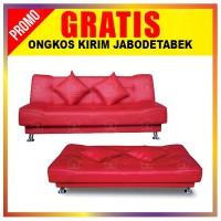 SALE! Sofa Bed Vendita Sofabed Minimalis Super Eco Oscar Kulit Leather