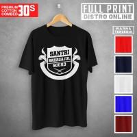 Santri Baragajul Squad Kaos Lengan Pendek Cotton Combed 30s