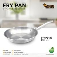 Wajan Fry Pan Stainless Steel 26cm - Golden Flying Fish STFP0126