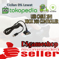 usb cable stick xbox 360 2in1 / kabel usb stik xbox 360