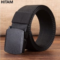 Ikat pinggang canvas tactical military belt anti metal detector polos