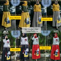 Haruka Set-Setelan Baju Muslim Wanita-Rok Hitam-Grosir Pakaian