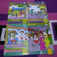 Paket 4 Buku LKS Tematik Kelas 1 SD Semester 2 Kuartilas ( K13 )