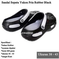 Sandal Sepatu Pria Yukon Rubber Sport BLACK