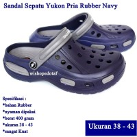 Sandal Sepatu Pria Yukon Rubber Sport NAVY