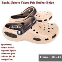 Sandal Sepatu Pria Yukon Rubber Sport BEIGE
