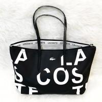 Harga promo tas wanita lacoste zip tote basic alphabet abjad huruf | Pembandingharga.com