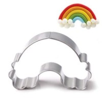 RAINBOW COOKIES CUTTER STAINLESS STEEL - RAINBOW COOKIE MOLD - CETAKAN