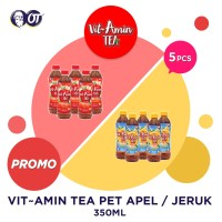 VIT AMIN TEA PET 350ML [PROMO 5 BOTOL] - APEL