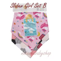 Libby Set Scarf Bibs / Slabber isi 2 pcs - Girl Set B