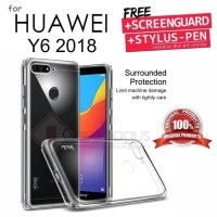 Huawei Y6 2018 - Imak Full Protective Armor Soft Case Cover