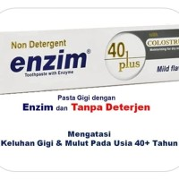 124Gr - ENZIM Tooth Paste 40+ with Colostrum/ Pasta Gigi/ Odol 100Ml