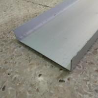 "U Aluminium 3/4"" x 4"" - 1,9 cm x 10,16 cm - Panjang 6 meter"