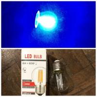 Lampu Led filament biru 4 watt / lampu edison 4w E27 / led bulb G45